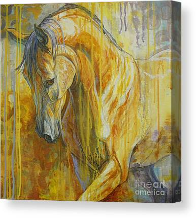 Bay Horse Paintings Canvas Prints