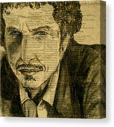Dylan The Poet Canvas Prints