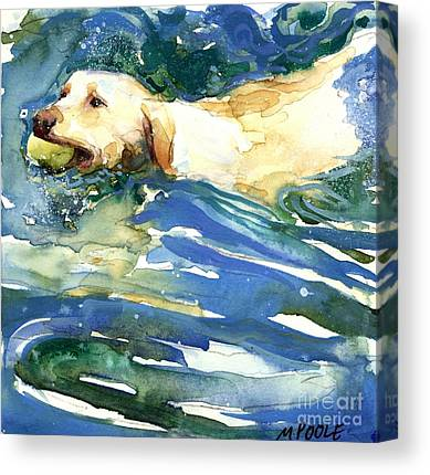 Water Retrieve Paintings Canvas Prints