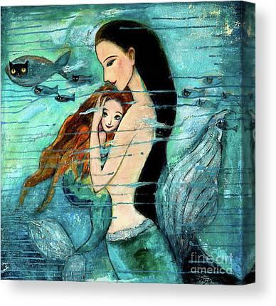 Little Mermaid Canvas Prints
