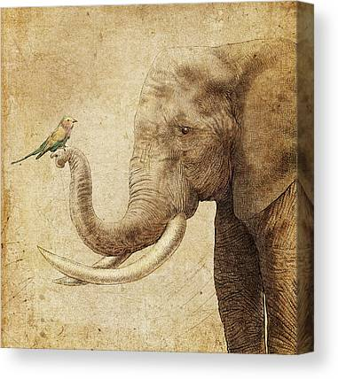 Africa Drawing Canvas Prints
