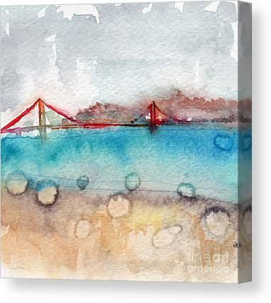 Gate Watercolor Canvas Prints