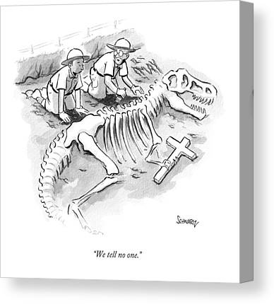 Archeology Drawings Canvas Prints