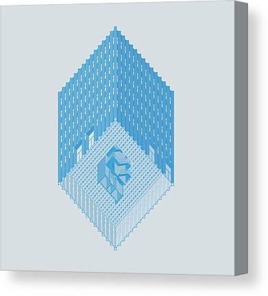 Axonometric Canvas Prints