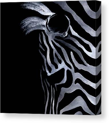 Profile Of Zebra Canvas Prints