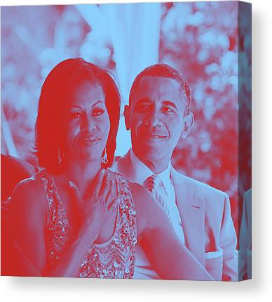 Barack And Michelle Obama Canvas Prints