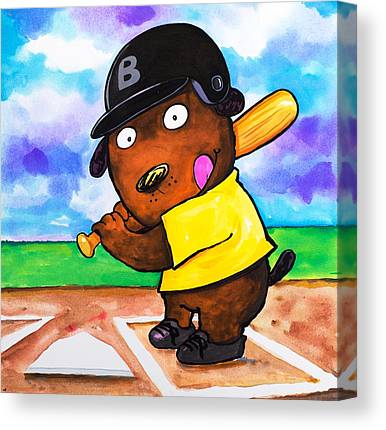 3rd Base Paintings Canvas Prints