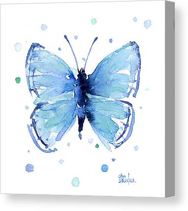 Watercolor. Butterfly Canvas Prints