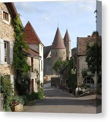 Medieval Village Canvas Prints