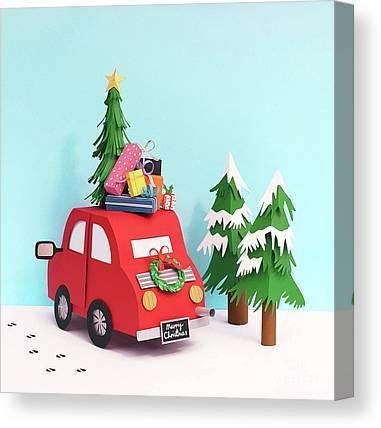 Gift Wrap Mixed Media Canvas Prints