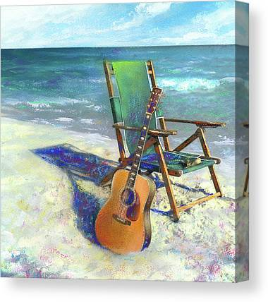 Beach Chair Canvas Prints