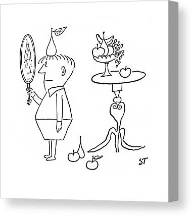 A Hand Mirror Drawings Canvas Prints