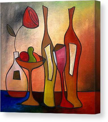 Wine Drawings Canvas Prints