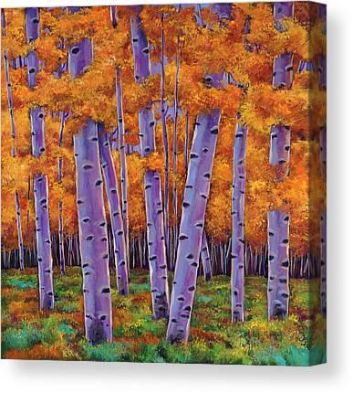 Tree Trunks Canvas Prints