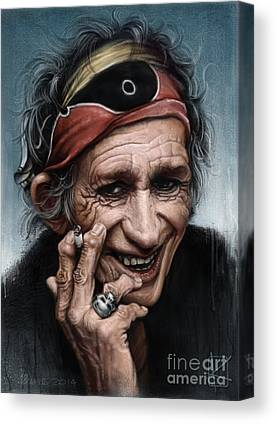 Keith Richards Rock Canvas Prints