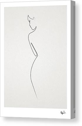 Abstract Nude Canvas Prints