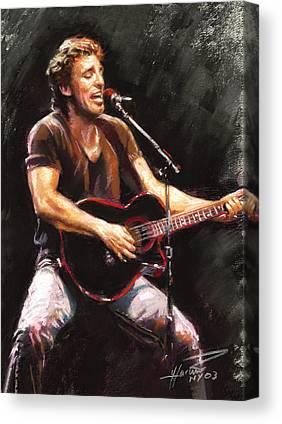 The Boss Rock Canvas Prints