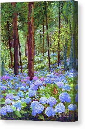Blue Hydrangea Canvas Prints