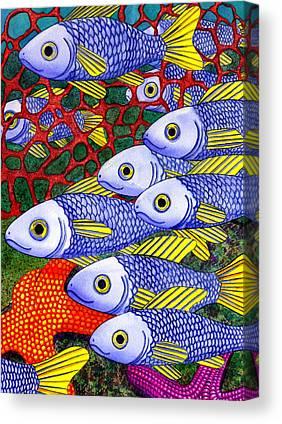 School Of Fish Canvas Prints