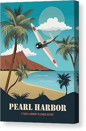 Battle Of Midway Canvas Prints