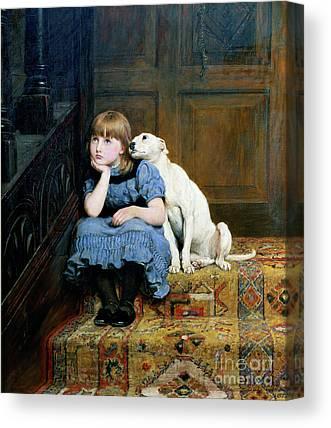 Sad Girl Canvas Prints