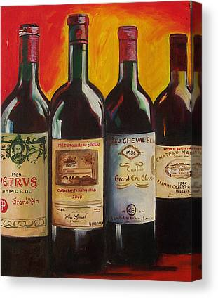 Wine Paining Paintings Canvas Prints