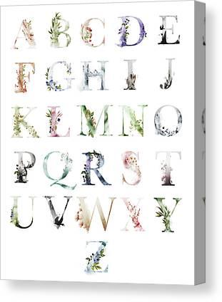 Alphabet Canvas Prints