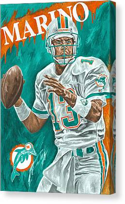 Dan Marino Miami Dolphins Football Quarterback Sports David Courson Canvas Prints