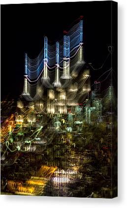 Electric Building Canvas Prints