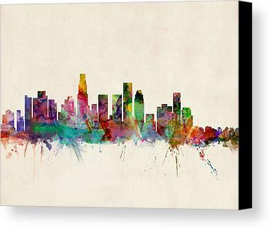 Los Angeles Skyline Canvas Prints