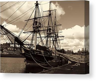 Ship In Sepia Canvas Prints