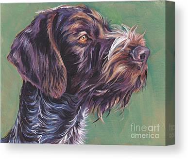 German Wirehaired Pointer Canvas Prints