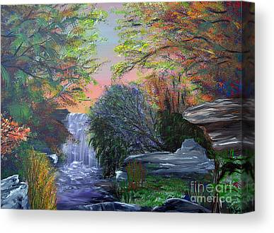 Southern Indiana Autumn Paintings Canvas Prints