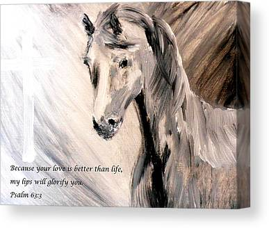 Because Your Love Is Better Than Life My Lips Will Glorify You Canvas Prints