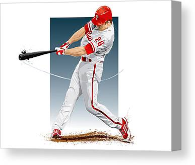 Chase Utley Canvas Prints