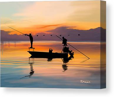Boating Canvas Prints