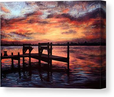 Topsail Island Paintings Canvas Prints
