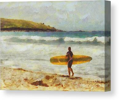 Surf Lifestyle Paintings Canvas Prints