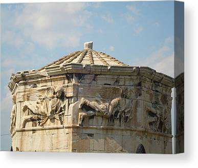 Clustered Around The Northern And Eastern Slopes Of The Acropolis Canvas Prints