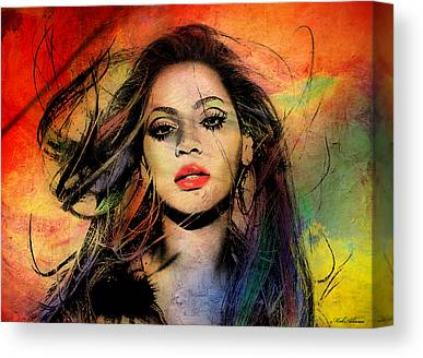 Famous People Digital Art Canvas Prints