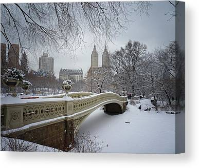 Snowy Scene Canvas Prints