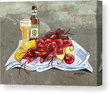 Crayfish Canvas Prints