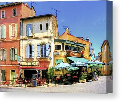 Southern France Digital Art Canvas Prints