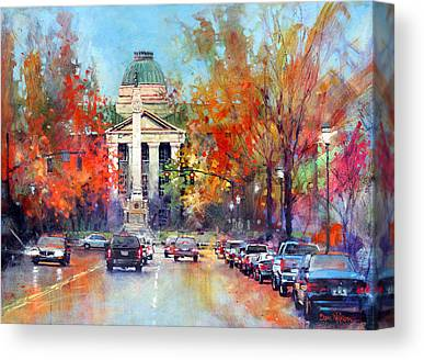 Confederate Monument Paintings Canvas Prints
