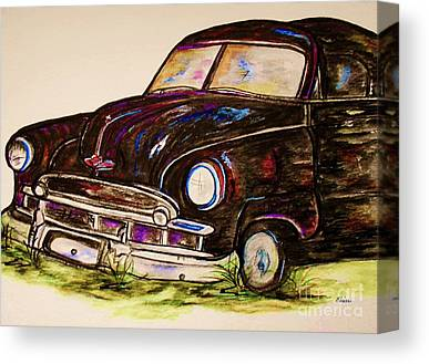 Collector Hood Ornaments Mixed Media Canvas Prints