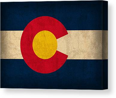 Colorado State Flag Canvas Prints