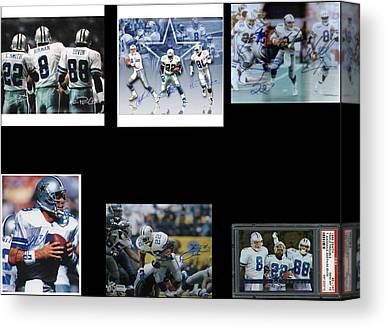 The Three Players That Made The Cowboys A Dynasty In 1990s Era Football Canvas Prints