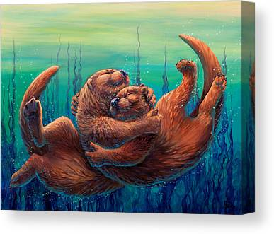 Otter Canvas Prints