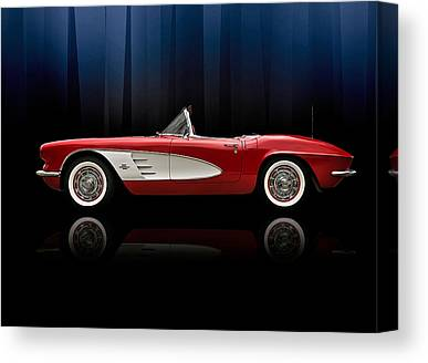 Red Chevrolet Canvas Prints