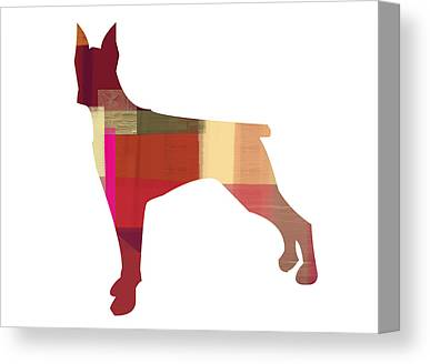 Doberman Pinschers Canvas Prints
